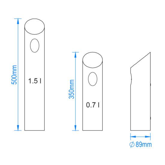 Battery Bin Tube Midi drawing