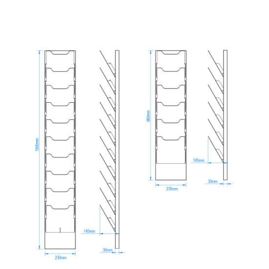 Wall Brochure Holder Lean Size
