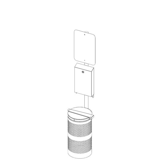 Outdoor Stand POST Kit Pet waste station2