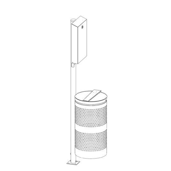 Outdoor Stand POST Kit Pet waste station