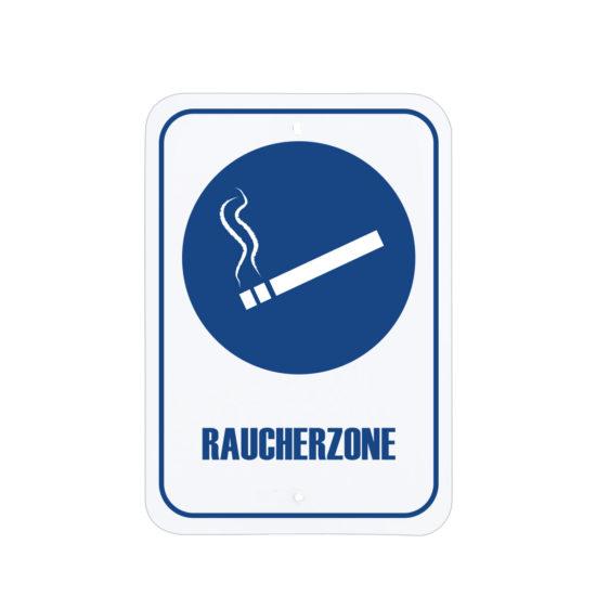 Facility Signs Designated Smoking Area Sign Blue Deutsch
