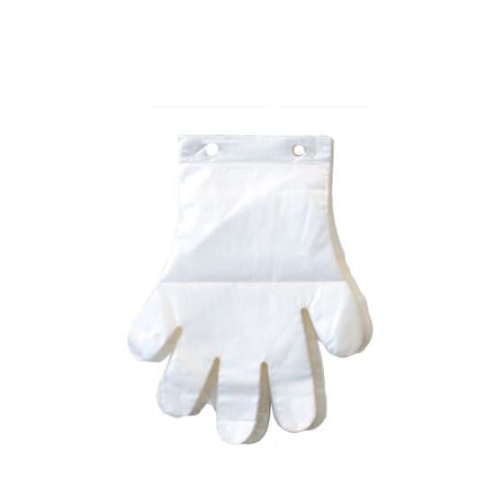 Poly Gloves Header White Neutral