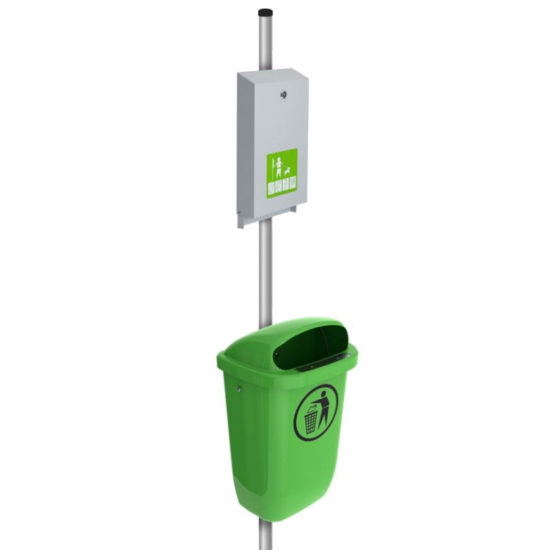 Outdoor Bin Urbin green pet station