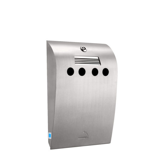 Cigarette Bin Curved Maxi Stainless steel