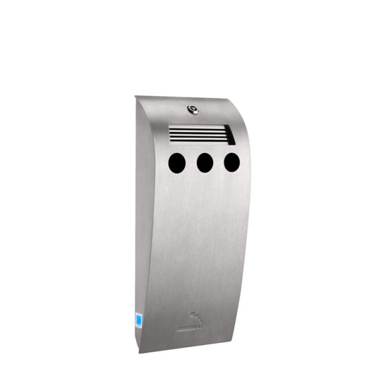 Cigarette Bin Curved Midi Stainless