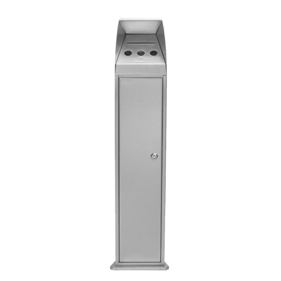 Free Standing Ash Bin Cig Tower Stainless Front