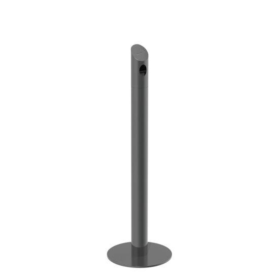 Ash Bin Tube Freestanding portable Dark Gray