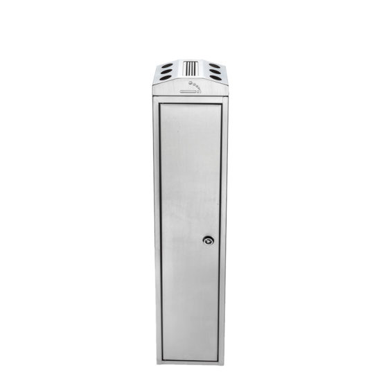 Free Standing Ash Bin Tower Square Stainless