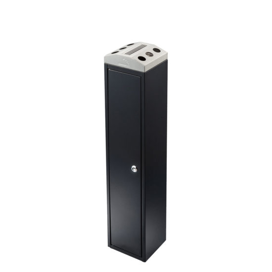 Free Standing Ash Bin Tower Square Black main