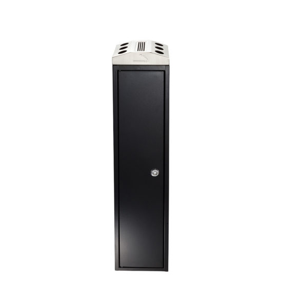 Free Standing Ash Bin Tower Square Black Front