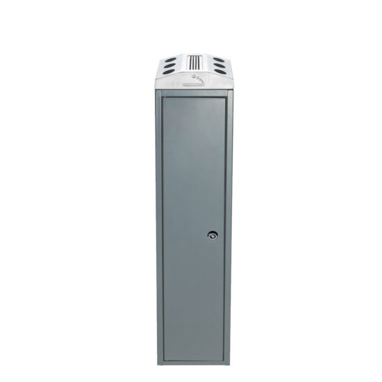 Free Standing Ash Bin Tower Square gray front