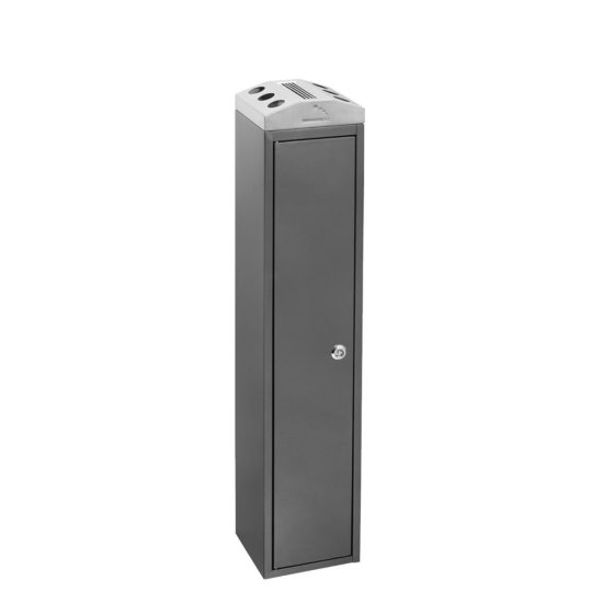 Free Standing Ash Bin Tower Square dark gray main