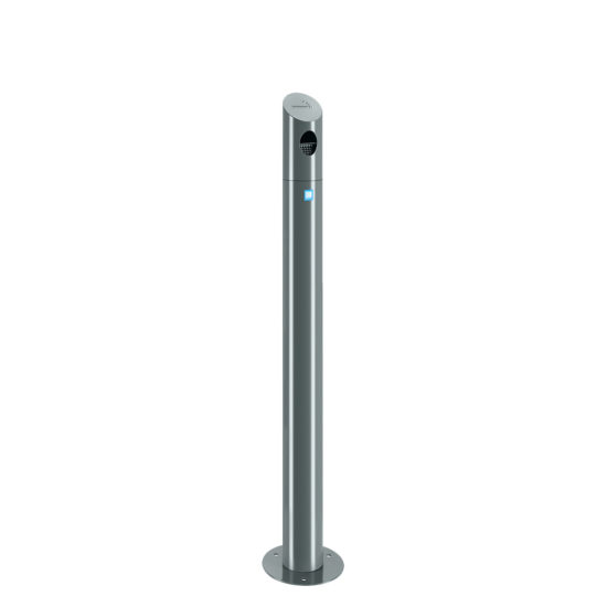 Ash Bin Tube Freestanding Gray