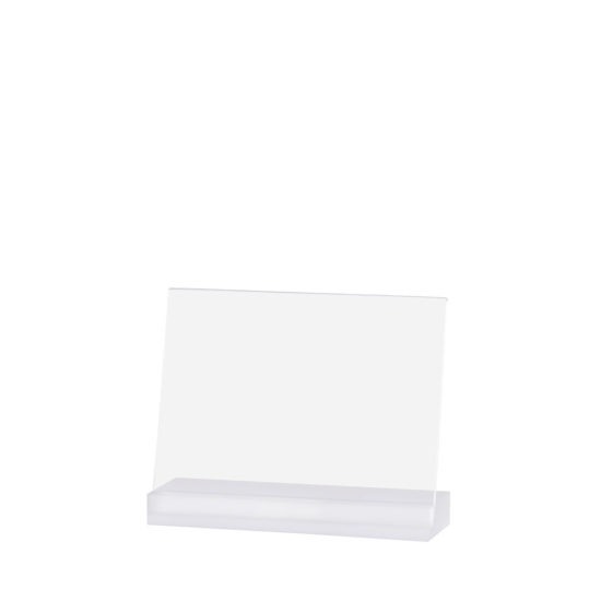 Counter Sign Holder Angled, Element Acrylic, Frost White, A5L, Blank