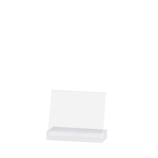 Counter Sign Holder Angled, Element Acrylic, Frost White, A6L, Blank
