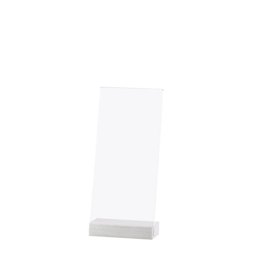 Counter Sign Holder Element Alu, Angled, DL, Blank