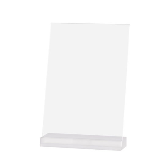 Countertop Sign Holder Angled, Element Acrylic, Frost White, A4, Blank