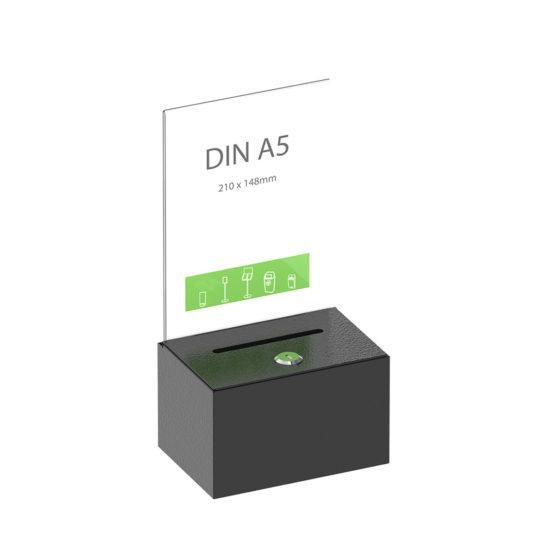 Dime Donation Box Black A5 Sign Main