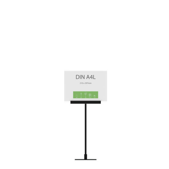 Display Stand Instand Midi, Straight Ctr. A4L Flat