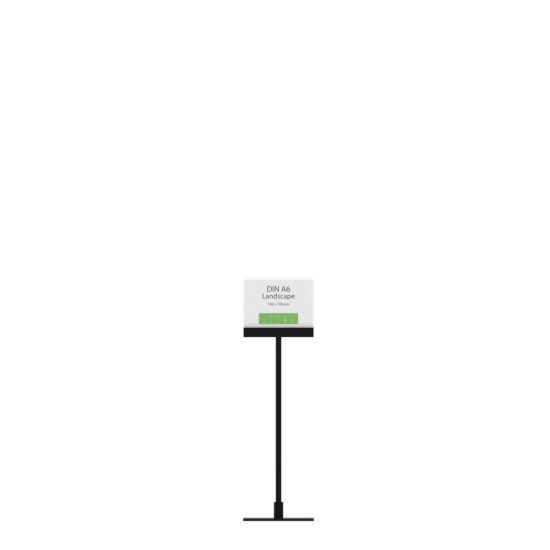 Display Stand Instand Midi, Straight Ctr. A6L Flat