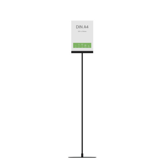 Display Stand Instand Maxi Straight Black A4 front
