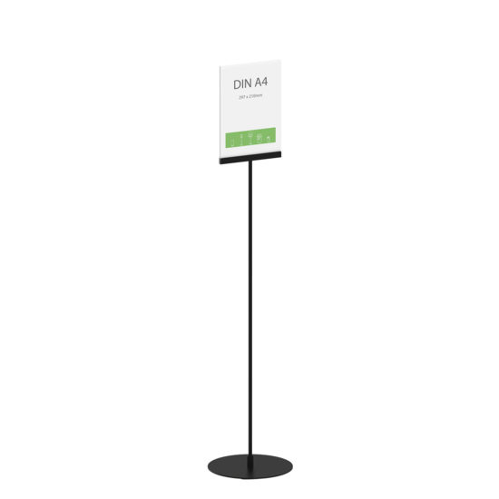 Display Stand Instand Maxi Straight Black A4 Main
