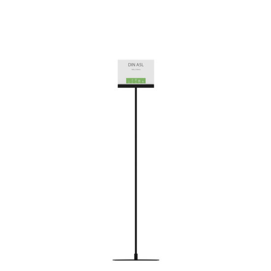 Display Stand Instand Maxi Straight Black A5L front