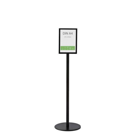 Display Stand Q EZI Frame A4 Black Front