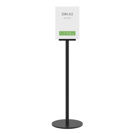 Display Stand Q EZI Uni Clip Black A3 front