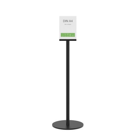 Display Stand Q EZI Uni Clip Black A4 front