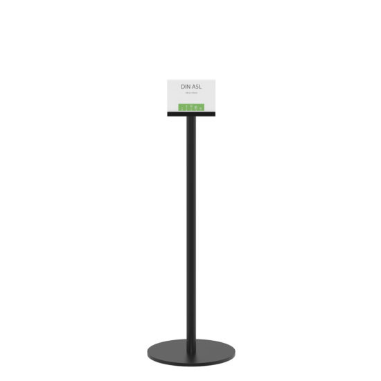 Display Stand Q EZI Uni Clip Black A5L Front