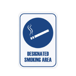 Facility Signs Designated Smoking Area Sign Blue English