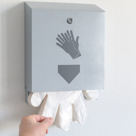 Hygiene Dispensers GAS Glove Dispenser in use2