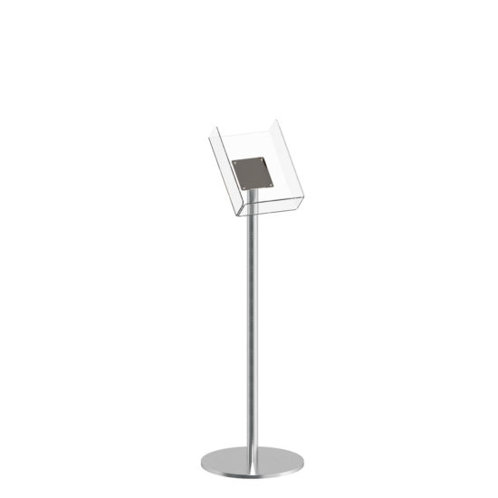 Literature Stand Q EZI Stainless Steel Brochure Holder A4 Blank