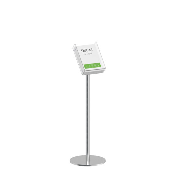 Literature Stand Q EZI Stainless Steel Brochure Holder A4
