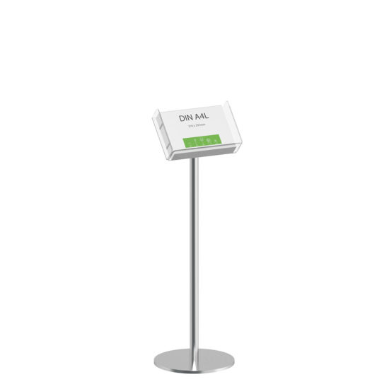 Literature Stand Q EZI Stainless Steel Brochure Holder A4L
