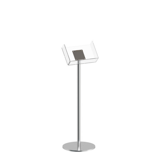 Literature Stand Q EZI Stainless Steel Brochure Holder A4L Blank