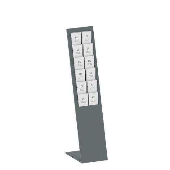 Metal Brochure Stand Planar Dark Gray DL with brochures