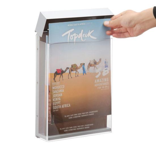 Outdoor Brochure Holder-Shield A4, Open
