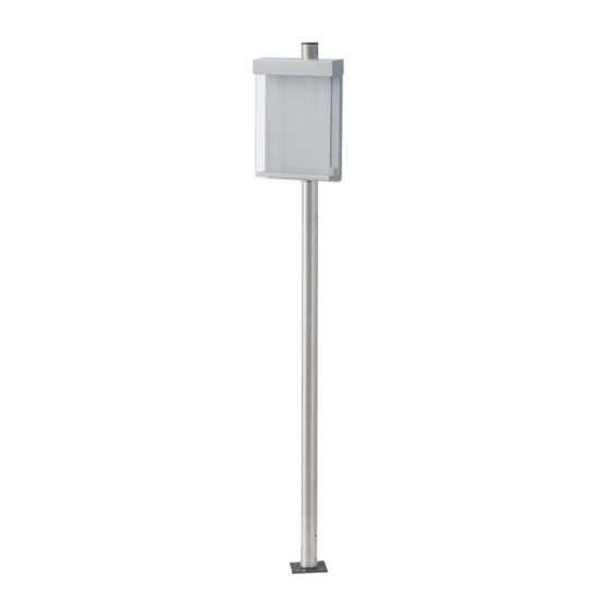 Outdoor Brochure Holder-Shield DL, blank on Post2