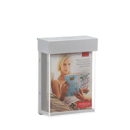 Outdoor Brochure Holder-Shield A5, with brochures