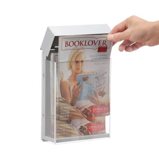 Outdoor Brochure Holder-Shield A5, Open