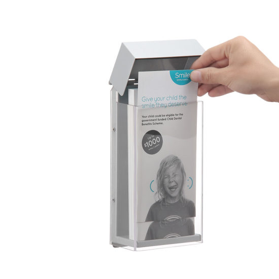 Outdoor Brochure Holder-Shield DL, Open