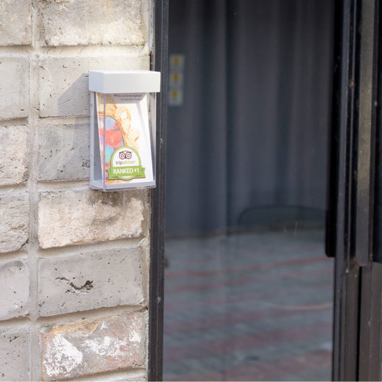 Outdoor Brochure Holder-Shield DL, in Use