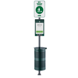 Pet Waste Station Canine AD Line Green