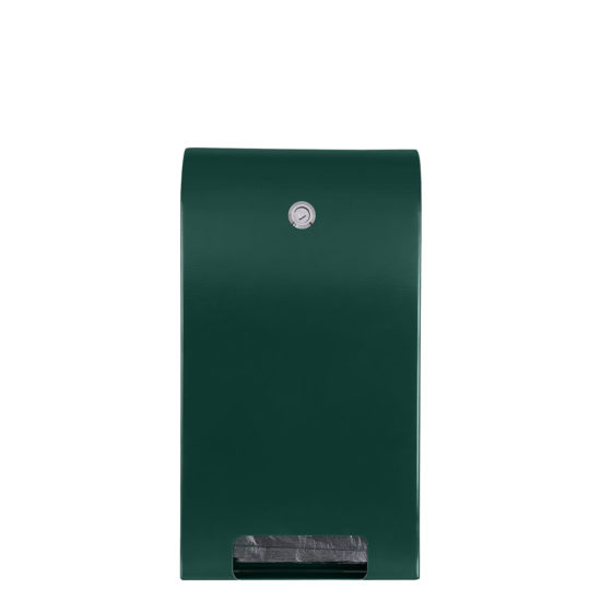 Bag Dispenser Canine Classic Green front blank