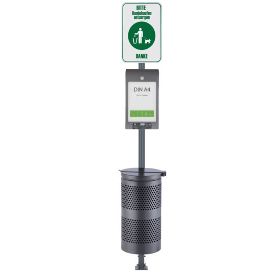 Pet Waste Station Canine AD Line Dark Gray