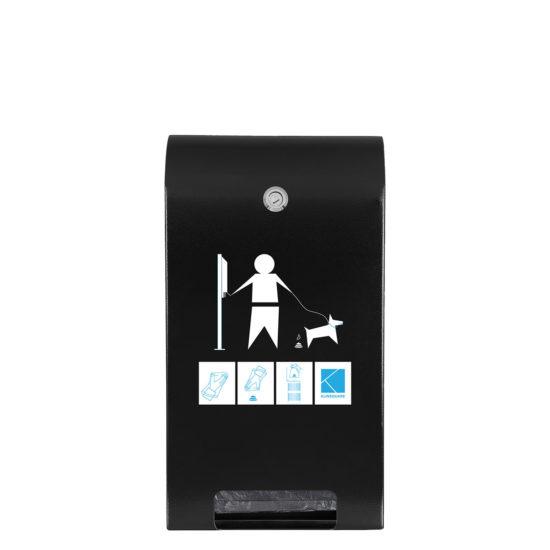 Bag Dispenser Canine Classic black front