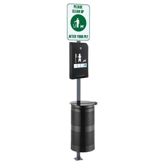 Pet Waste Station Canine Classic, Black