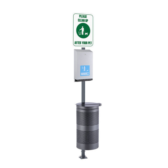 Pet Waste Stations Canine eco, Silver maxi station